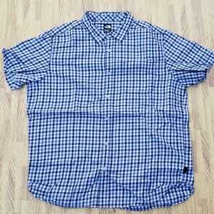 The North Face Black/White Plaid Button Down Shirt